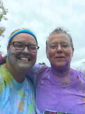 Grandma and Gigi after purple